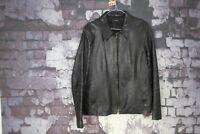 Linea Black Leather Jacket size M No.R691 21/1
