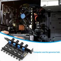 3/4Pin Cooling Fan Hub 4D SATA Power Supply 3/8 Way Speed Controller Regulator Y