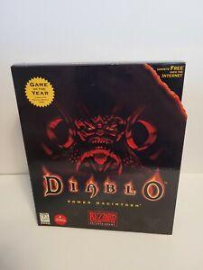 Rare Diablo 1 Original PC in Big Box Authentic with inserts Power Mac + strategy