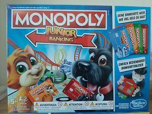 Monopoly Junior Banking  Hasbro mit Kartenleser 2-4 Spieler ab 5 Jahre Neu