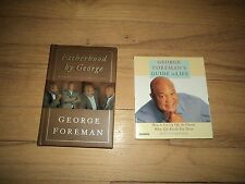 2 George Foreman Books Fatherhood AND Guide To Life Audiobook Boxing Champ Ali