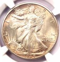 1934-D Walking Liberty Half Dollar 50C - NGC AU58 PQ - Rare Date - Looks MS/UNC!