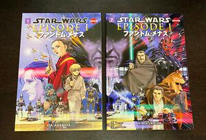 STAR WARS MANGA Episode 1 Phantom Menace (2000 DH) -- Volume 1 2 -- FULL Set