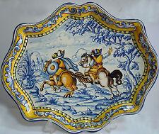 BANDEJA CABALLEROS ESTILO ANTIGUO A Pottery TRAY OLD STYLE Spanish Talavera