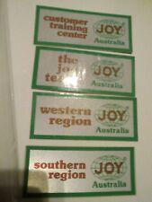 New listing Complete set of 4 Joy Australia mining stickers
