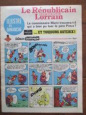 LE REPUBLICAIN LORRAIN ILLUSTRE DU DIMANCHE 8 UDERZO GREG MORRIS GRATON... 1967