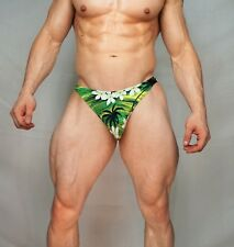 MENS NEW GREEN PALM TREE BRIEF SMALL