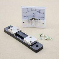 DC 0-50A Gleichstrom Analog Amperemeter Strom Meßgerät Panel + Shunt Widerstand