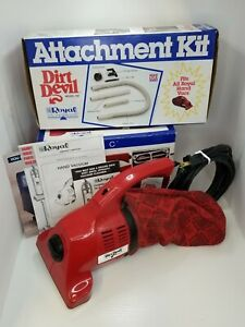 VTG Royal Dirt Devil Hand Vac Vacuum 103 & Attachments Lot Made in USA *READ*