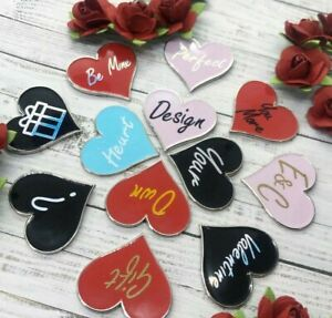 Personalised PICK YOUR Love Heart Enamel Pin   Customised Pin Badge