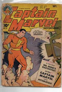 CAPTAIN MARVEL Adventures #39 Golden Age Shazam 1944