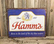 Hamm's Hamms Beer Since 1865 Bottles New Metal Tin Bar Pub Sign Vintage Garage