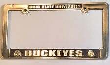 OHIO STATE BUCKEYES CAR TRUCK TAG LICENSE PLATE FRAME UNIVERSITY SILVER BLACK
