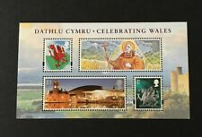 Great Britain Minature sheet MSW125. Celebrating Wales. 2009 Mint never hinged