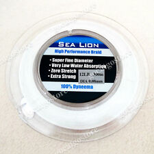 NEW Sea Lion 100% Dyneema Spectra Braid Fishing Line 300M 12lb White