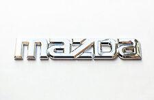 Mazda Logo Emblem Silver OEM Genuine Stock trunk  badge decal symbol Protege 626