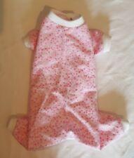 Pink Stars Flannel Pajamas Pj's Dog Puppy Apparel Pet Clothes Xxxs - Large