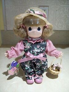 """Vintage Precious Moments 12"""" Garden of Friends 1st Edition """"Lily"""" by Applause"""