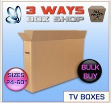 10x 43inch LCD/Plasma TV Picture Cardboard Removal Boxes - Double Flap