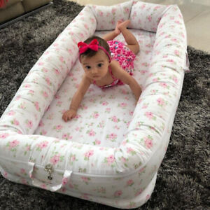 Baby Nest Bed Floral Baby Lounger Co-Sleeping Newborn/ Infant Bassinet Crib