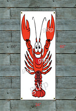 Giant CRAWFISH Banner Vertical Sign for Restaurant Bar or Food Truck Trailer