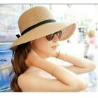 New Women Summer Sun Hat Wide Brim Beach Straw floppy Elegant Bohemia Beach Cap