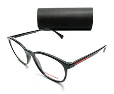 Prada VPS 07L 1AB-1O1 Black Men's Authentic Eyeglasses Frame 55-18