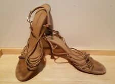 Banana Republic sandals heels size 10 strappy leather Italy