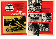 1970 HEMI CUDA FUNNY CAR / JEG COUGHLIN  -  ORIGINAL 2-PAGE ARTICLE / AD