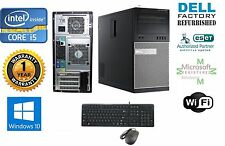 Dell 7010 TOWER PC DESKTOP i5 3470 Quad  3.2 16GB 500gb SSD Win 10 Pro 64