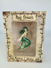 2005 Amy Brown Mystical Collection Mermaid Figure ornament Water Emerald w/ Box