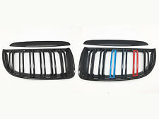 M Color Gloss Black Front Dual Fin Grill Grille for BMW E90 E91 05-08 320i-335i