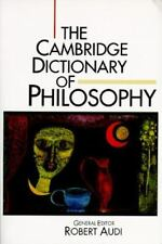 The Cambridge Dictionary of Philosophy-ExLibrary