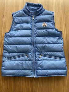 Moncler Boy Blue Lightweight Puffer Gui Down Puffer Vest Size 14