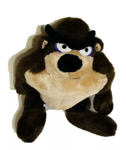 "Vintage Tasmanian Devil Tazmanian Taz Plush Stuffed Toy Warner Bros 11"" 1989"