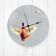 Metal wall clock, various designs, hare, highland cows, donkeys, stag, pheasant