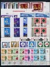 Israel 1966 MNH Tab Block (TB-BL) Complete Year Set