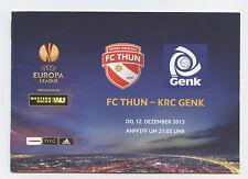 ORIG. PRG Europa League 13/14 FC Thun-KRC Genk!!! RARO