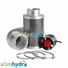 More details for rhino hobby carbon filter kit odour extraction fan aluminium ducting hydroponics