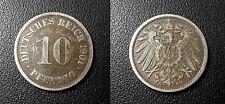 Allemagne - Germany - Wilhelm II - 10 pfennig 1901 G !