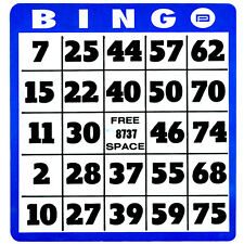 Large Print Bingo Cards For Low Vision, Big Numbers, Thick Cards, Popular, Qty 1