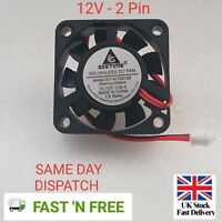 1pc Brushless DC Cooling Fan 40x40x10mm 4010 9 blades 12V 2pin 0.06A  UK seller