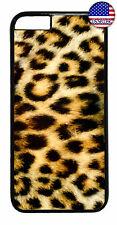 Leopard Tiger Fur Print Wild Animal Case Cover iPhone Xs Max XR X 8 7 6 Plus 5 4