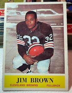 ORIGINAL 1964 JIM BROWN #30 PHILADELPHIA GUM FOOTBALL CARD VG-EX+ RESIDUE BROWNS