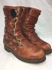 CHIPPEWA Vintage Side Lace FLEECE LINED MOTORCYCLE CAFE RACER BOOT 9B Mad Max!!!