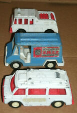 Three 1/48 Scale Police and Fire Vehicle Diecast Toys - Vintage 1970s TootsieToy