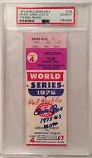 """Pete Rose Signed 1975 Game 4 World Series Ticket """"1975 WS MVP"""" Reds PSA 27706636"""