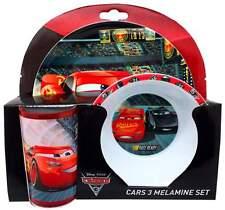Disney Pixar 'Cars 3' 3-Piece Melamine Dinner Set | Tumbler, Bowl + Plate | Cars