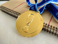 HQ 2014 Brazil FIFA World cup Champion Gold Medal Ribbon Collection XMAS Gift