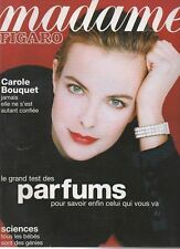 madame FIGARO 20/12/1997 carole bouquet barbara schulz